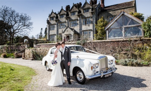 Newly Wed Couple With Bentley S3 Wedding Car