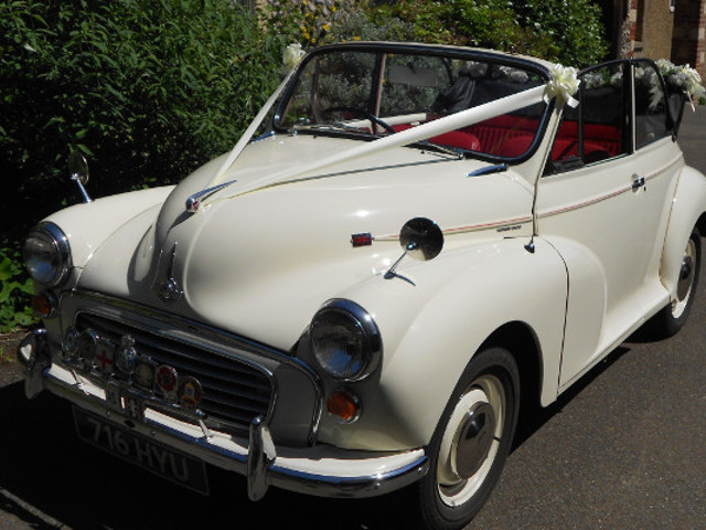 Morris Minor With Top Down