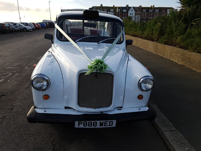 White London Cab Wedding Car