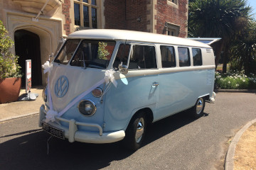 VW Camper Van Prepared For A Wedding